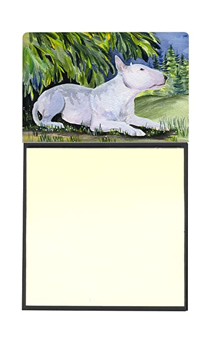 Caroline tesoros del SS8266SN Bull Terrier rellenable titular o de notas adhesivas dispensador de Postit Note