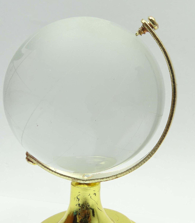 Verre en cristal givr/é mondiale Globe Effacer solide Poids de papier bureau D/écor
