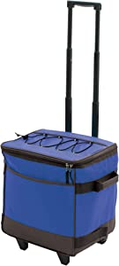 Rio Gear Insulated Rolling Soft Sided Cooler and Cold Food and Drink Storage, Blue