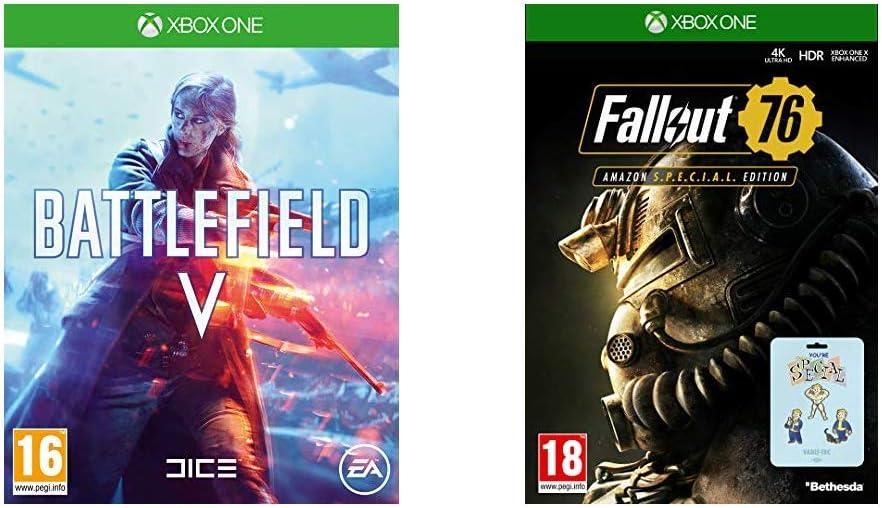 Battlefield V + Fallout 76 - - Xbox One [Importación inglesa ...