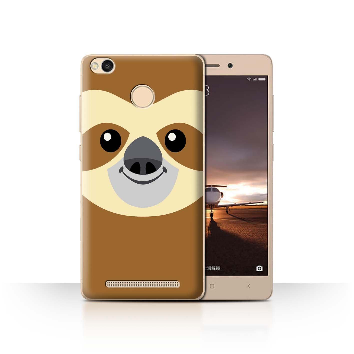 Stuff4® ® Phone Case/Cover/Skin/Xia de CC/Dibujos Animados Animal Faces Collection Faultier Xiaomi Redmi 3 Pro/3S Prime: Amazon.es: Informática