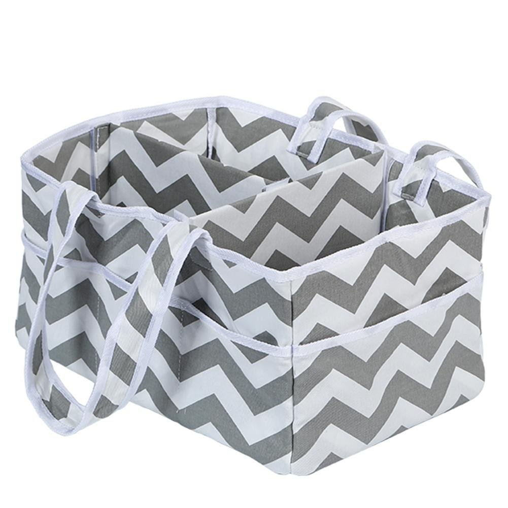 Matefield Multi-functional Striped Folding Mummy Bag Baby Diaper Nappy Storage Bags