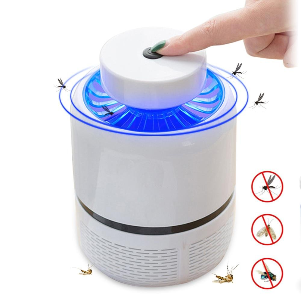KOBWA Mosquito Trap Lamp Household LED Mosquito Lamp USB Nonradiative Fly Bug Dispeller for Indoor Home