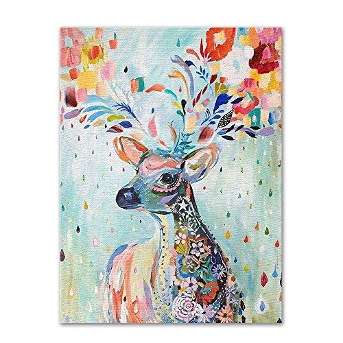 Ktyssp Modern Cartoon Elk Decoration Painting Living Room Entrance House Painting (B) ()