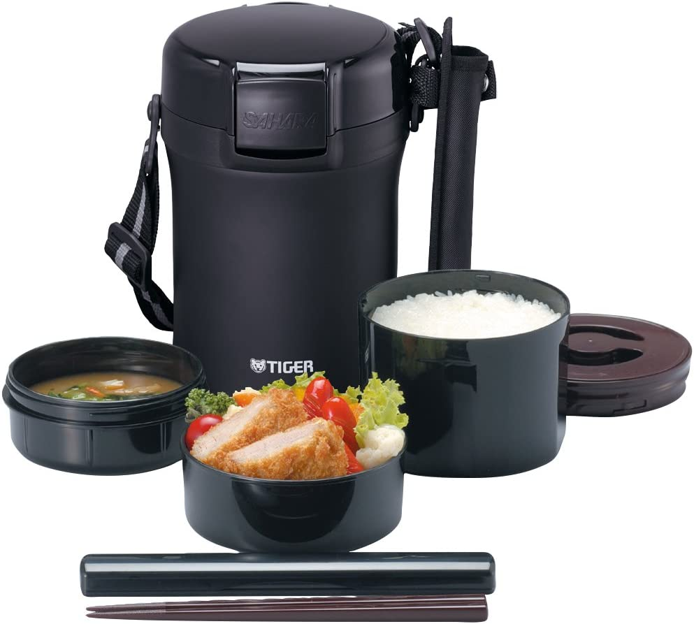 Tiger Thermos Stainless Lunch Box (Vacuum Bento Box, LWU-A172)