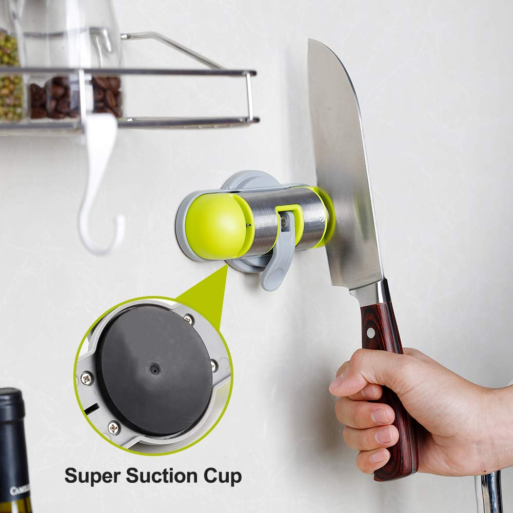 Kitchen Knife Sharpener - 2-Stage Mini Knife Sharpening Tool Helps Repair, Restore and Polish Blades,Strong Adsorption