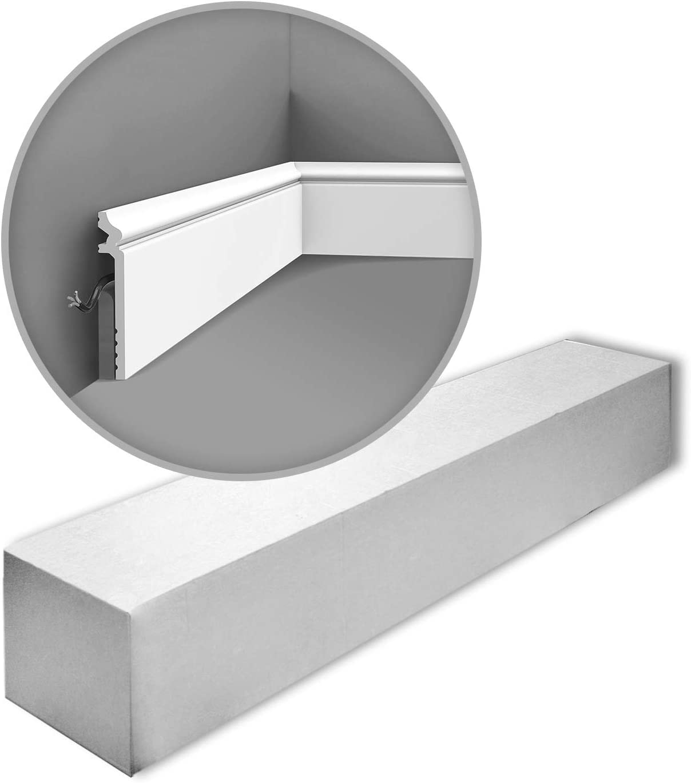 Orac Decor SX186-box LUXXUS 1 Box 16 Pieces Skirting 32 m