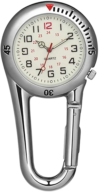 NICERIO - Reloj con mosquetón, Ligero, con Enganche de Clip ...