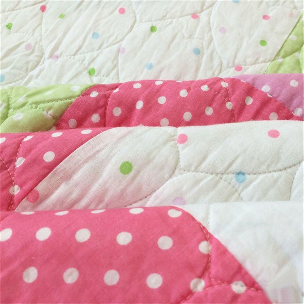 Los niños de la mariposa Elfos patrón patchwork quilt Set, 100% algodón niña Plaid colcha, doble tamaño, color rosa: Amazon.es: Hogar