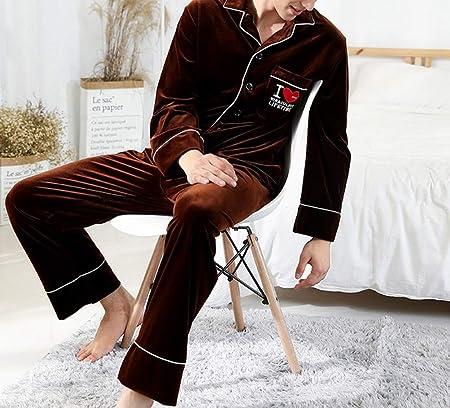 SED Pijamas - Pijama de Terciopelo Dorado otoño e Invierno ...