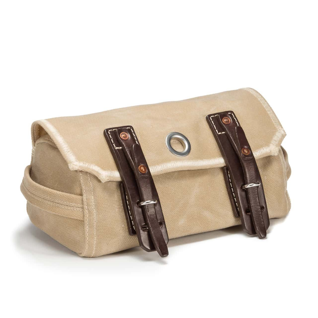 Saddleback Leather Co. Mountain Back Canvas Dopp Kit - Hanging Canvas and Leather Men's Toiletry Bag - 100 Year Warranty