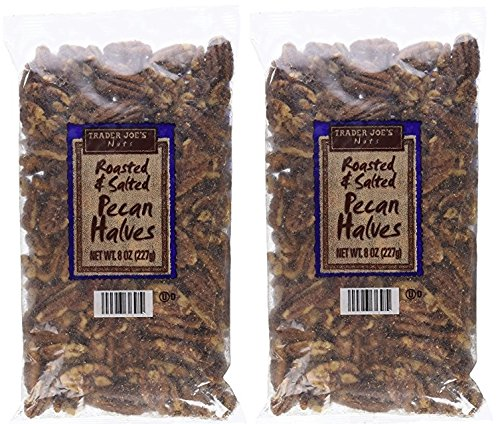 Trader Joe's Roasted & Salted Pecan Halves, 8 oz,(Pack of 2)