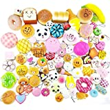 Random 20pcs Jumbo Medium Mini Soft Squishy Cake/Panda/Bread/Buns Phone Straps