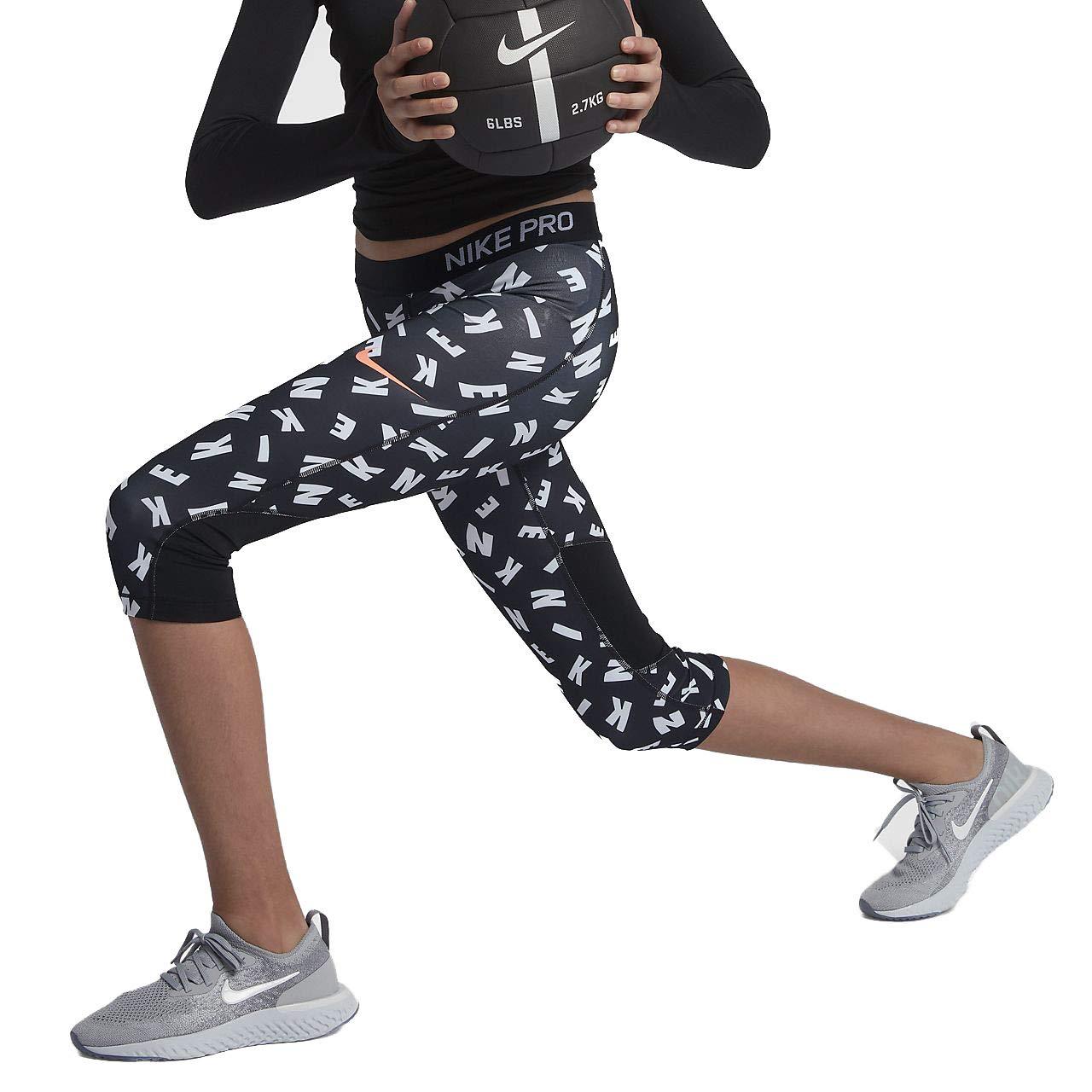 Noir cramoisi S Nike Girl's Pro Toss Impression Corsaire