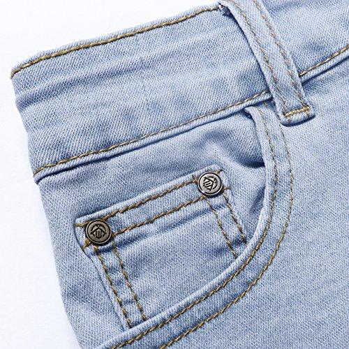 Extreme Pop Mujer Pantalones Cortos de Mezclilla de Cintura ...