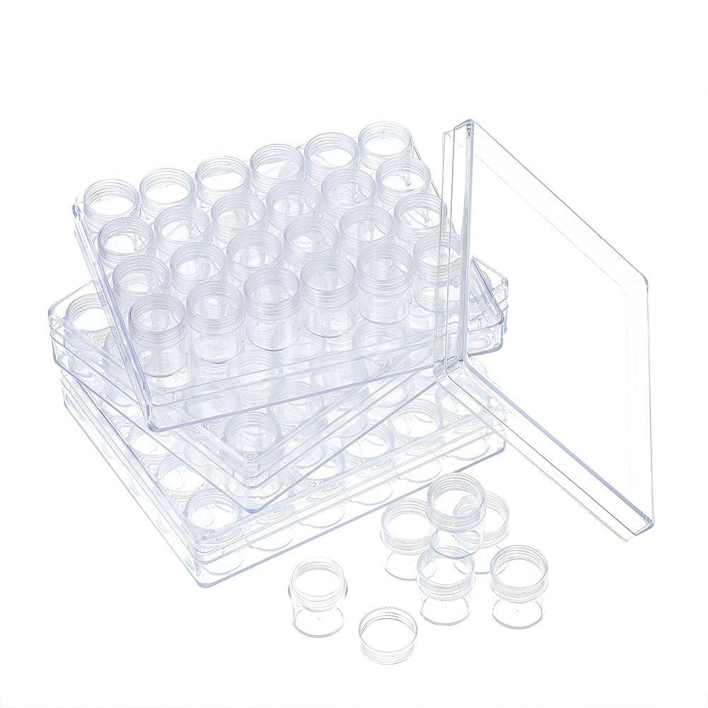 Pandahall Plastic Storage Container Set Beads Storage Boxes & Organizers Transparent Bottles 90pcs 4336939601