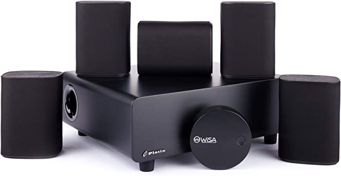 Platin Milan 5.1 with WiSA SoundSend | Home Theater System |Space-Saving Wireless Surround Sound for Smart TVs | Feature 5.1 Channels of Uncompressed 24-bit 48 kHz Sound | WiSA Certified