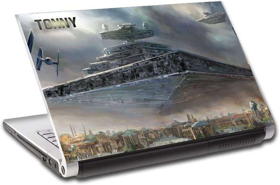 "Star Wars Destroyer Ship Personalized LAPTOP Skin Decal Vinyl Sticker NAME L610, 15.6"""