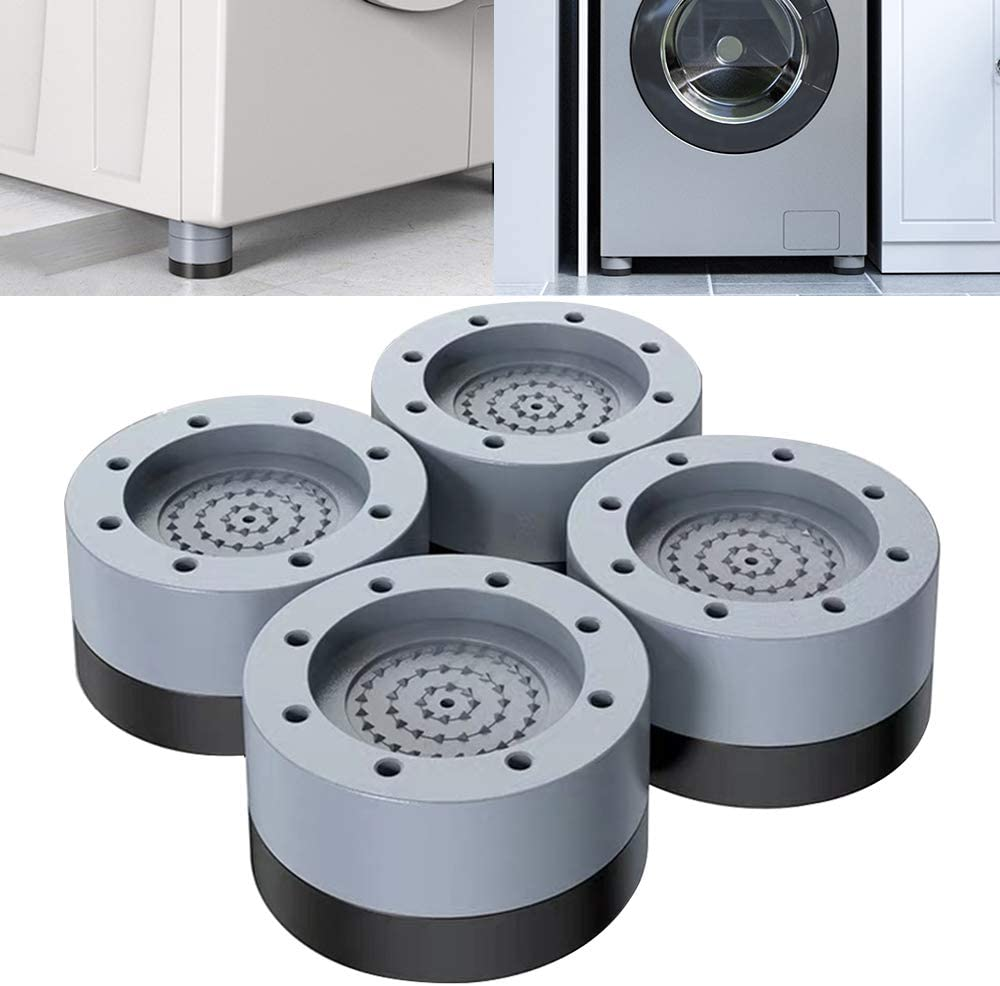 Shock and Noise Cancelling Washing Machine Support,4 PCS Washer And Dryer Anti-Vibration Feed Pads