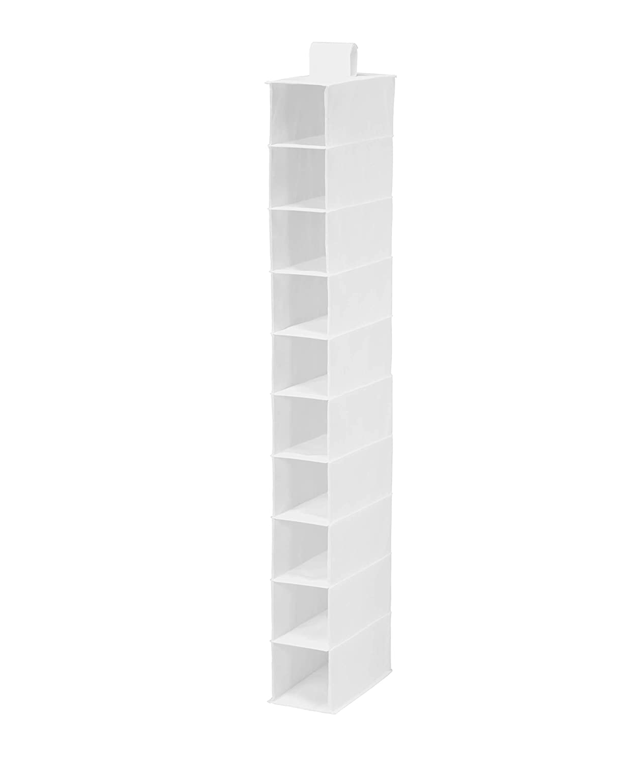 Honey-Can-Do SFT-01240 Hanging Shoe Organizer, White, 10-Shelf
