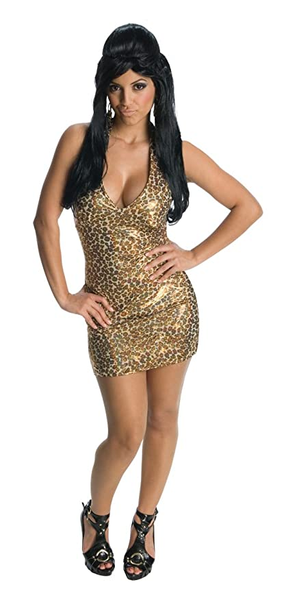 Amazon.com Jersey Shore - Nicole  Snooki  Adult Halloween Costume (One-Size) Clothing  sc 1 st  Amazon.com : halloween costumes leopard print  - Germanpascual.Com