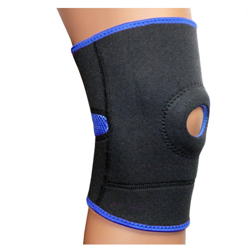 PU Health Pure Acoustics Padded Neoprene Breathable Knee Support Brace, Blue, 113.398 Gram