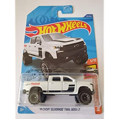 Hot Wheels 2020 Hw Hot Trucks '19 Chevy Silverado Trail Boss LT, White 151/250: Toys & Games