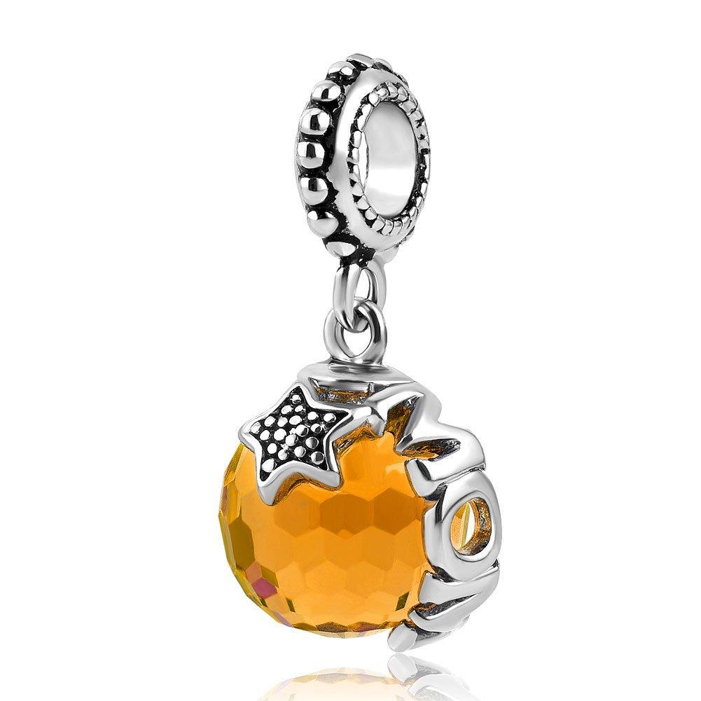 Charmed Craft Mom Charm Jewelry Jan-Dec Birthstone Swarovski Elements Crystal Beads For Charm Bracelets pandöra charms DPC_MY800_X12