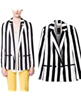 Moxeay® Striped Sleeved Leisure Blazers striped suit