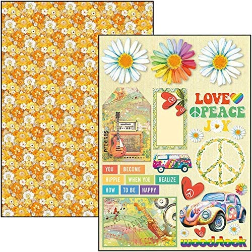 9 Designs//1 Each Ciao Bella Double-Sided Creative Pack 90lb A4 9//Pkg-The Seventies