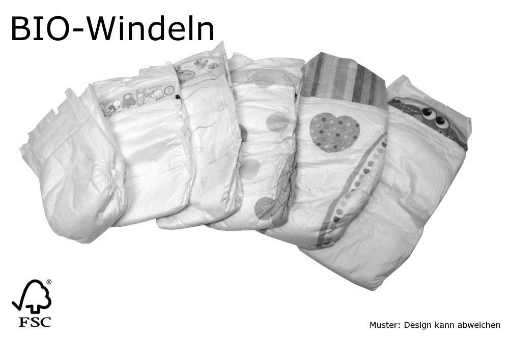 Karton 90 St BIO Babywindeln Gr/ö/ße 6 XL 15-30kg B-Ware hautfreundliche Windeln