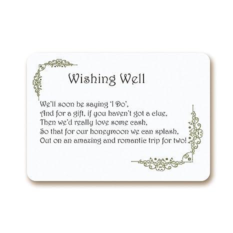 Ekunstreet 24x Wedding Money Gift Request Poem Honeymoon Wish
