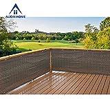 Alion Home Elegant Privacy Screen Fence Mesh Windscreen for Backyard Deck Patio Balcony Pool Porch Railing - Brown/Mocha (3' X 11')