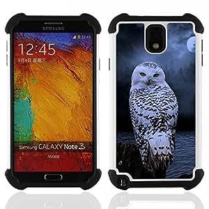 For Samsung Galaxy Note3 N9000 N9008V N9009 - owl snow winter night mysterious moon Dual Layer caso de Shell HUELGA Impacto pata de cabra con im????genes gr????ficas Steam - Funny Shop -