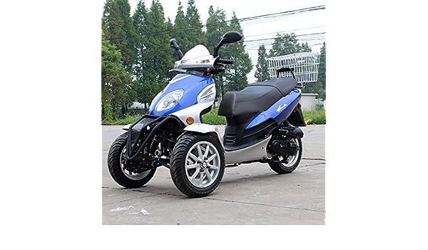 DONGFANG 49cc Falcon Trike Scooter Gas Moped 3 Wheels Black