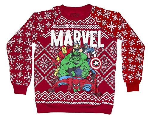 Amazon.com: Marvel Heroes Juniors Ugly Christmas Sweater (X-Large ...
