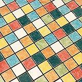 Porcelain Tile Backsplash Kitchen Iridescent Tiles Ceramic Fireplace Wall Mosaic Bathroom Rainbow Color Matt Floor Tile (1PCS Small Sample 2.8x5.9 Inches)