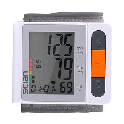 iClight scian Tensiómetros de Muñeca Monitor de Presión Arterial Digital de Muñeca con Detección del Ritmo