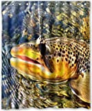 Fly Fishing Shower Curtain Mesllings Shower Curtain 60