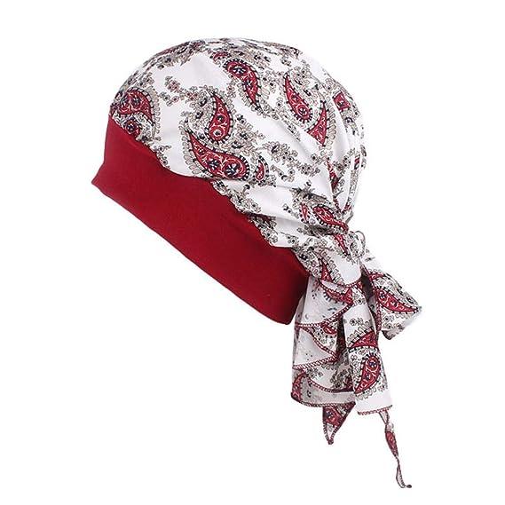Diademas Mujeres Pañuelos para la Cabeza Sombrero de la Turbante de ...