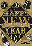 Happy New Year – STANDARD Size, 28 Inch X 40 Inch, Decorative Double Sided Flag MADE IN USA by Custom Décor Inc. For Sale