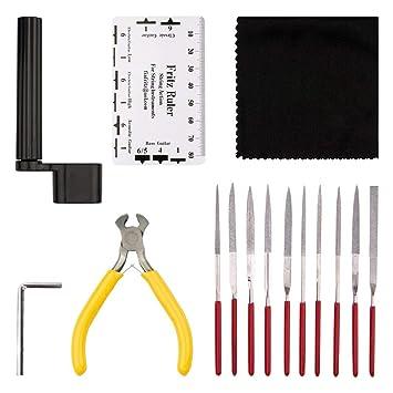 NetEraEU Kit de reparación de guitarra, 15 piezas, herramientas de reparación y mantenimiento para