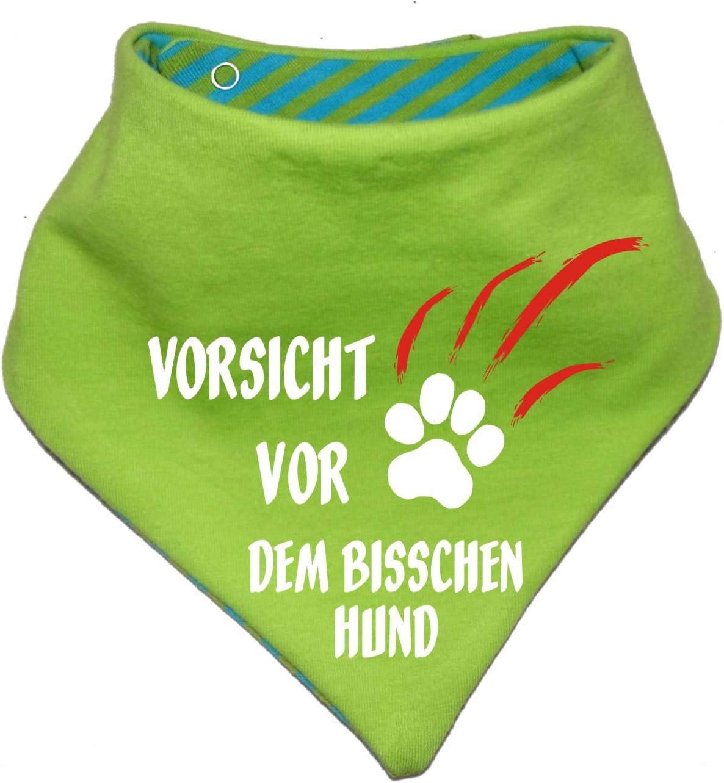 KLEINER FRATZ gestreiftes Hundehalstuch Wendehalstuch f/ür Hund//Katze Dog Pet Tuch Vorsicht vor dem bisschen Hund