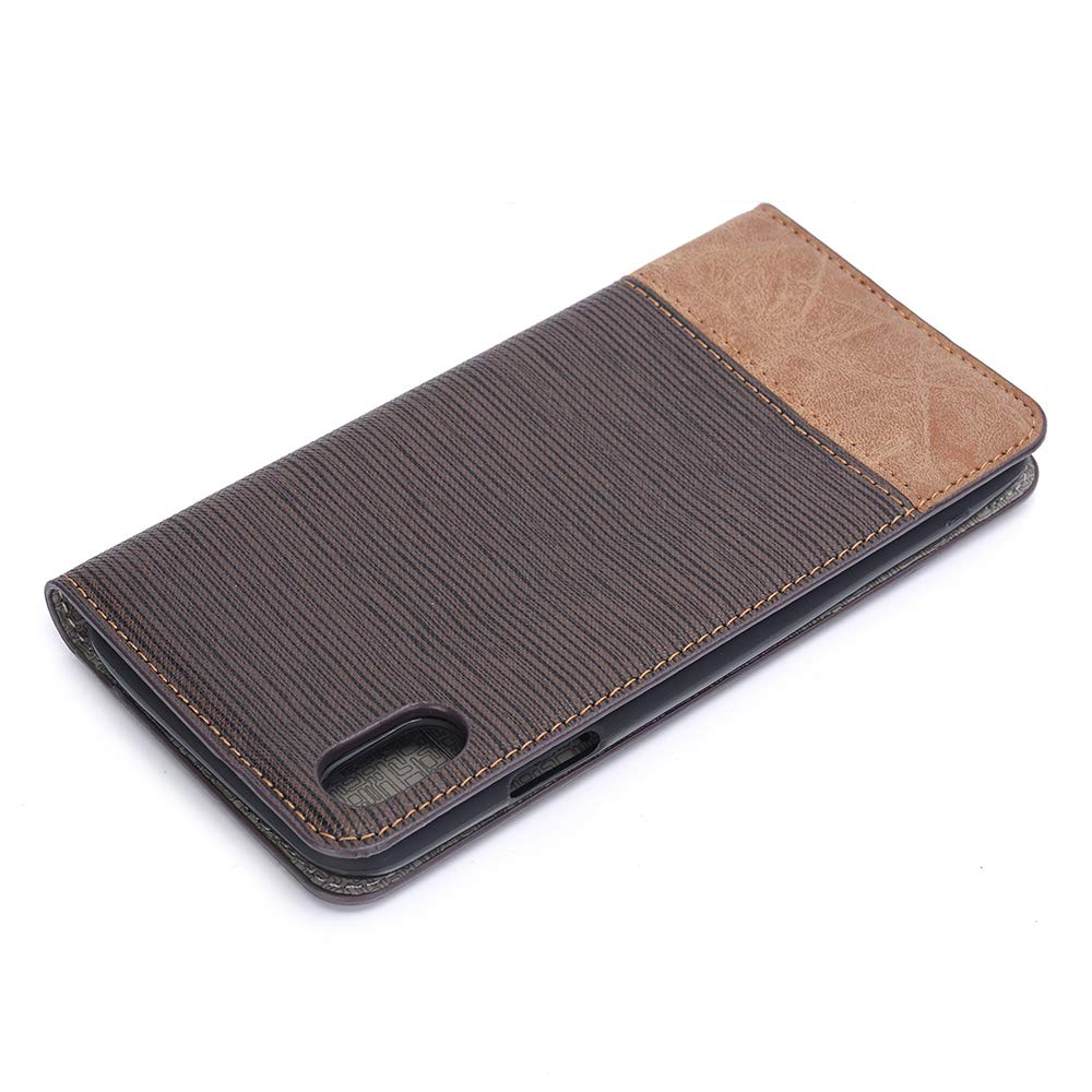 Case for iPhone XR,Miya Premium Pu Leather Case with Card Slot Cash Holder Pockets Kickstand Smart Case Folio Flip Shockproof Protective Cover for Ladies Men Girls for Apple iPhone XR - Dark Brown by MIYA LTD (Image #5)