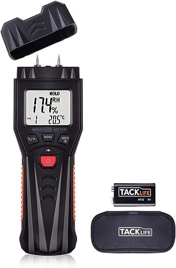 TACKLIFE Humidímetro Digital Medidor de humedad