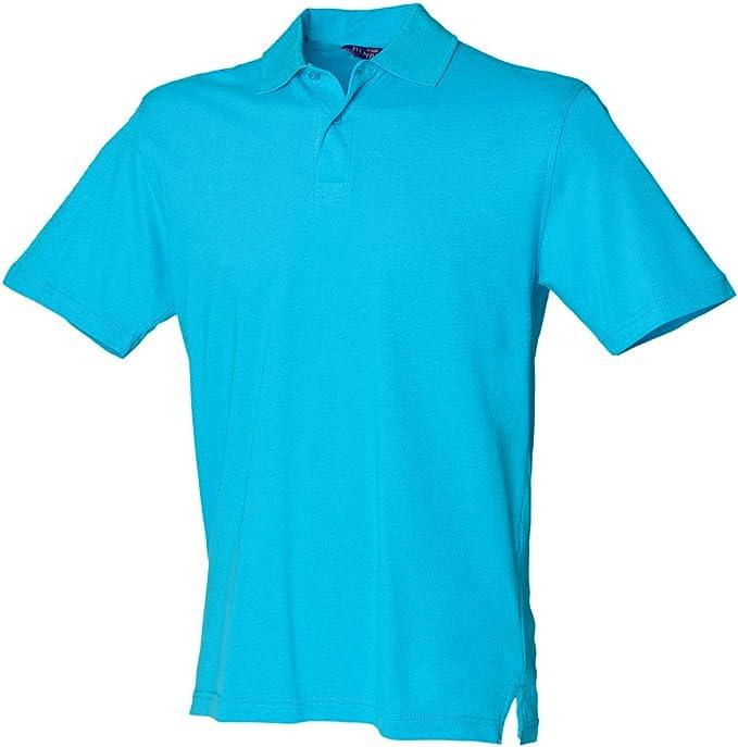 Henbury - Polo - para hombre Azul turquesa small: Amazon.es: Ropa ...