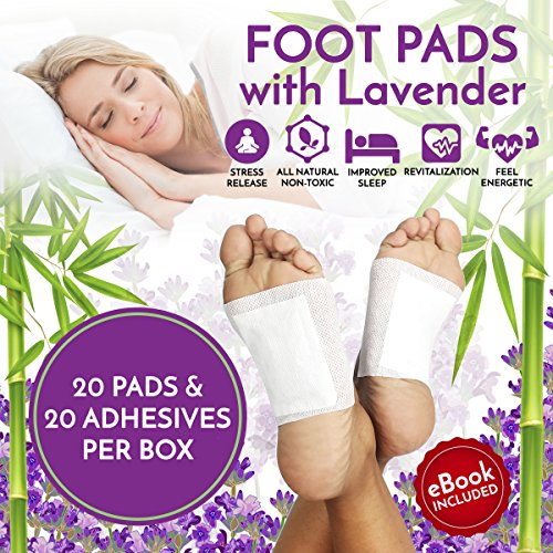 Patch Body Aroma (Foot Pads Patches For Pain Relief | Adhesive Foot Care Patch To Remove Impurities, Relieve Stress & Improve Sleep | Lavender Infused For a Relaxing & Calming Aroma - 20 Pack (UPGRADED FORMULA))