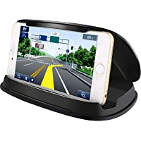 Cell Phone Holder for Car, Car Phone Mount, Durable Dash Windshield Car Mount Holder Cradle Silicone Pad Mats for iPhone XS Max XR X 8 7 Samsung Galaxy Note 10 S10, Other GPS and Smartphones, Bosynoy