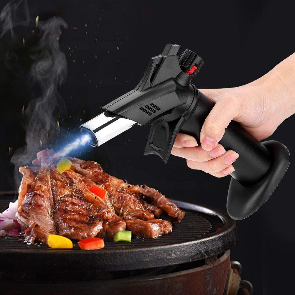 Heyue Micro Double Flame Butane Gas Torch Lighter for crème brûlée, Chefs Butane Torch,Culinary Blowtorch for Cooking Baking Searing, Welding Soldering Brazing Refillable Tool (No Butane) by Heyue (Image #4)