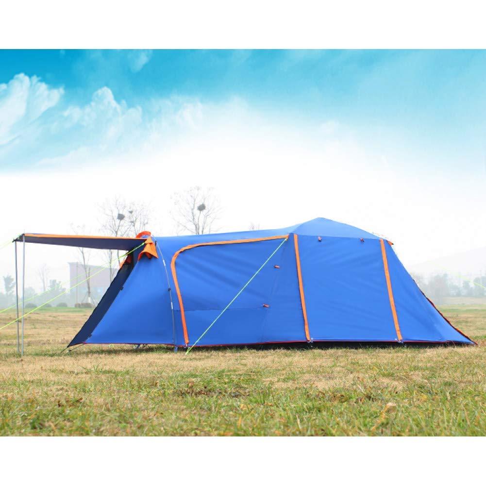 Sortie Udstyr, Tente Double Couche 3-4Person une Salle une Chambre Tente de Camping Coupe-Vent, Kejing Miao  -